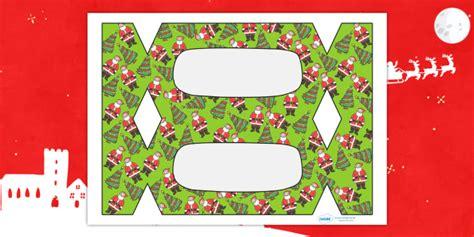 Make Your Own Christmas Crackers Christmas Xmas Cracker Template Make A Make Your Own Crackers Template