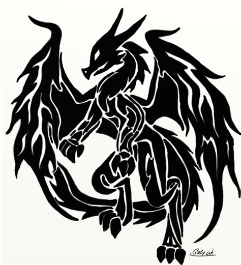 dragon tribal 2 by crazy cat009 on deviantart