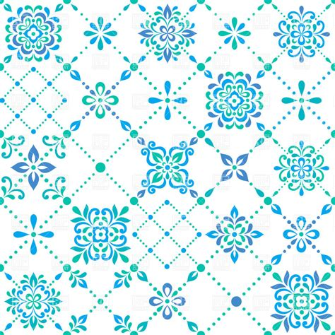flower pattern line vector seamless pattern made of graphic flowers and diagonal
