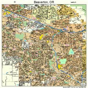 beaverton oregon map 4105350