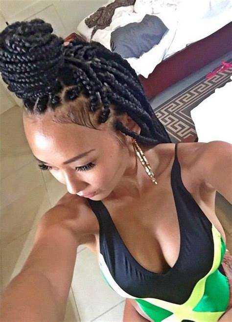 Box Plaits Hairstyles by Box Braids Extensions Plaits Square American Hair