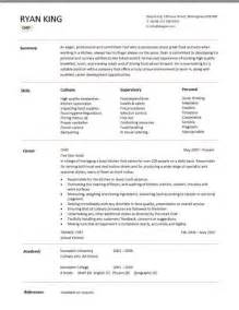 Resume Sle For Chef by Chef Resume Template Purchase