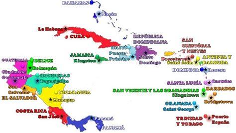mapa america central y antillas comentario en pa 237 ses y capitales de am 233 rica central y las