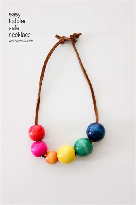 Diy Easy Toddler Safe Necklaces