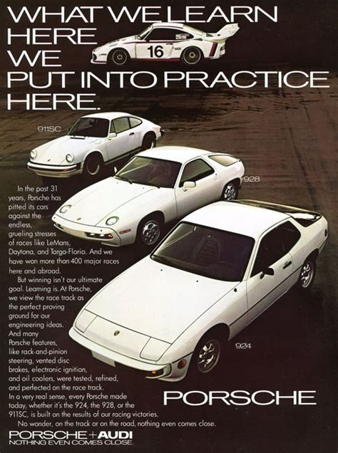 vintage porsche ad 1000 images about porsche ads through the years on