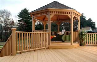 Waterproof Gazebo For Decking by Outdoor Deck Gazebos Interesting Ideas For Home