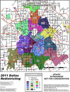 a map of dallas the school archive project dallas city council