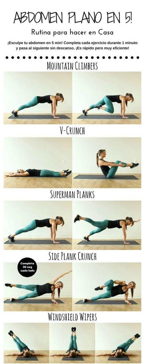 ejercicios para abdomen en casa ejercicios en casa rutina de ejercicios en casa