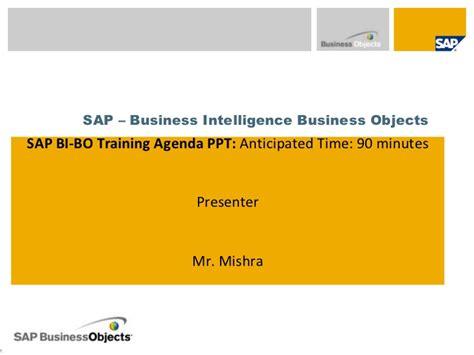 tutorial sap business intelligence sap bi bo training with hana inside