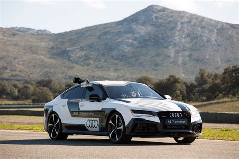 designboom audi audi rs7 piloted driving concept car tested by designboom