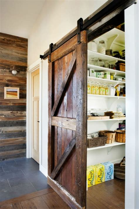 Pantry Door Designs by Using Barn Doors As A Statement In Interior Design
