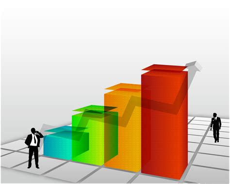3d powerpoint template 3d rising chart backgrounds for presentation ppt