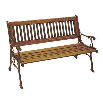cast iron park bench replacement slats dc america sl601co brmp carolina park bench cast iron