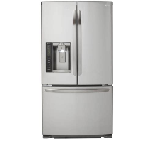 lg appliances refrigerators appliance parts household lg electronics 24 1 cu ft french door refrigerator in