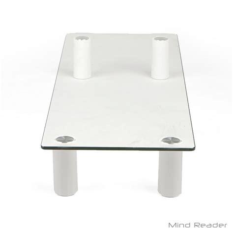 monitor stand cl on glass desk mind reader glass monitor stand riser clear glassmon clr