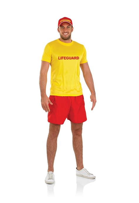 90s Fancy Dress Costumes Men | mens male lifeguard costume for 90s bay fancy dress adults