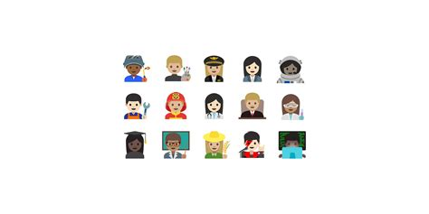 emoji on android look emoji professions on android