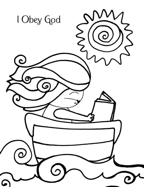 obey god coloring page coloring home