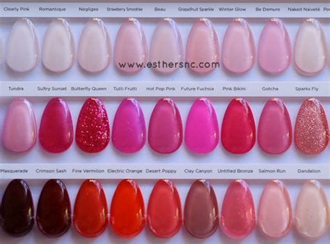 shellac colors chart cnd shellac color charts esther s nail corner
