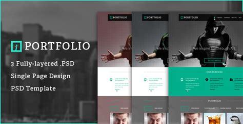 Iportfolio One Page Psd Portfolio Template By Stephanus168 Themeforest Photoshop Portfolio Template