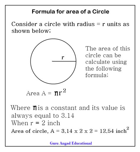 Area Of A Section Of A Circle Formula worksheets on area of a circle diigo groups