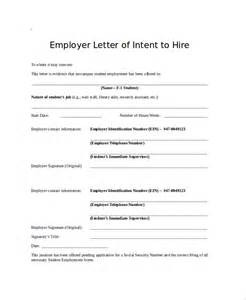 letter of intent to hire template sle letter of intent 43 exles in pdf word
