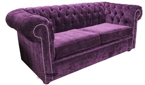 Purple Chesterfield Sofa Chesterfield Traditional 2 Seater Settee Sofa Velluto Amethyst Purple Fabric Ss Ebay