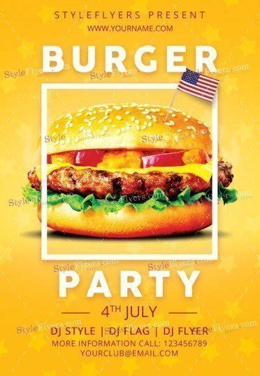 template flyer burger burger independence party psd flyer template 19570