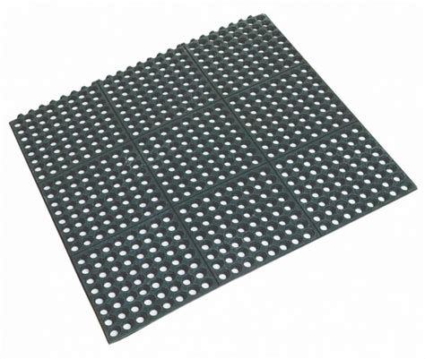 rubber floor mat 90x90x1 2cm beaumont tm