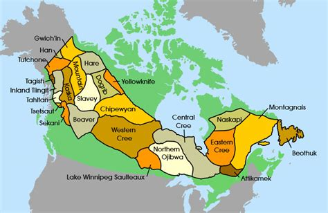 canadian map of nations free resources country profile and demographics