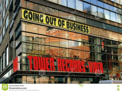 Records Nyc Nyc Tower Records Store On Broadway Editorial Image Image 72800820