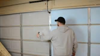 how to insulate your garage door 187 how to insulate a garage door ep30