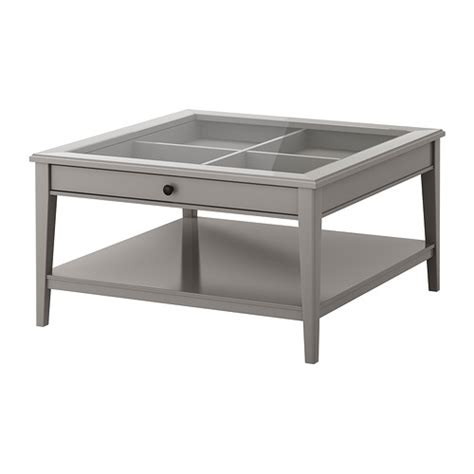 liatorp table basse gris verre ikea