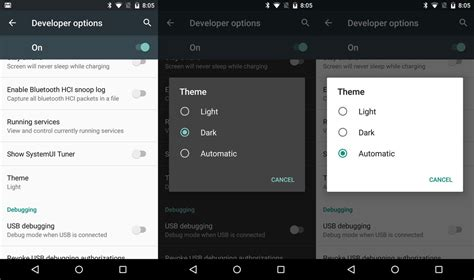 themes android developer a quick peek at the developer options in the android m
