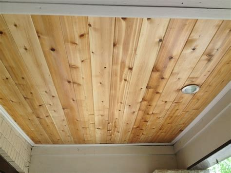 Tongue And Groove Cedar Ceiling by Porch Ceiling Rejuvenation Tongue And Groove Cedar With