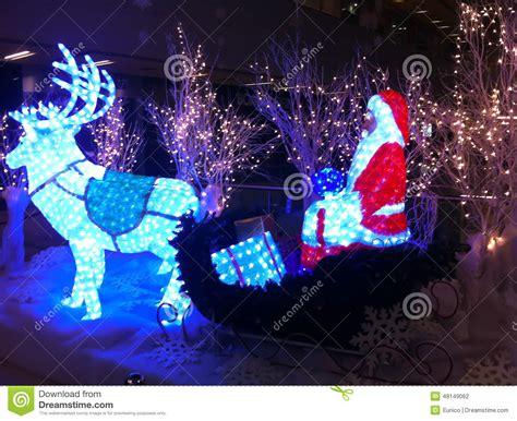 level christmas lights christmas sale santa claus christmas trees editorial
