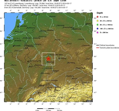earthquake germany europe geology earthquake and volcano activity in europe