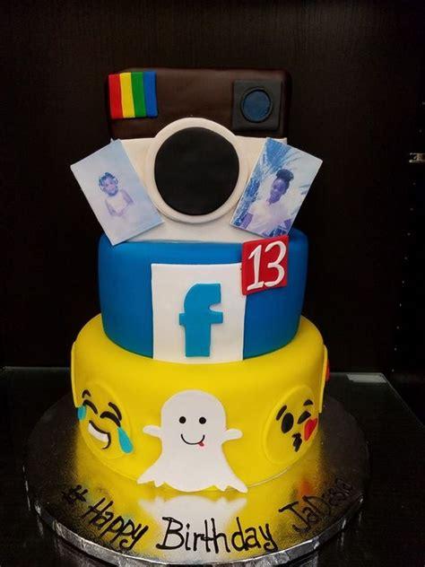 instagram design cake social media cake facebook snapchat instagram custom