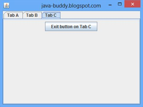 java swing jtabbedpane java buddy implement tabbed panel using jtabbedpane