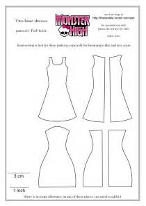 monster high two basic dress patterns by theukelele on