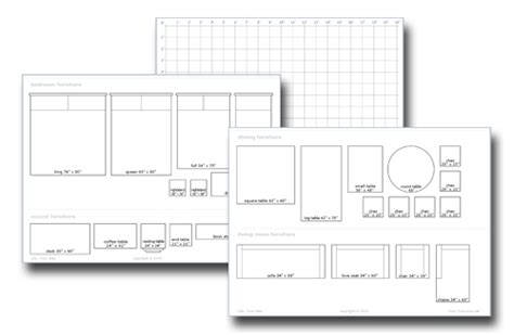 room design template grid pdf diy free printable furniture templates for floor plans