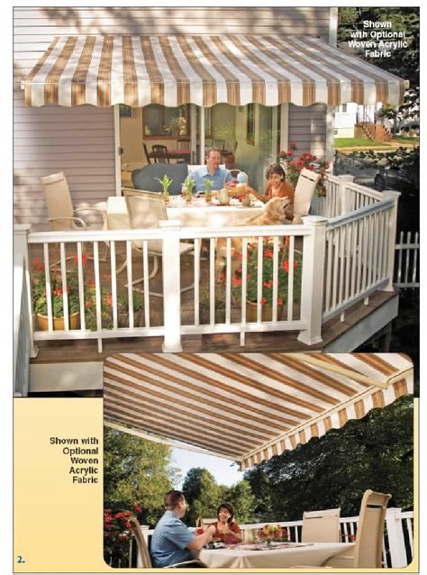 Sunsetter Awnings Brought To You By Sure Seal Sunsetter Patio Awning Lights