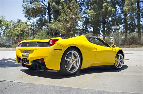 Ferrari 458 Spider Yellow by File Yellow Ferrari 458 Italia Spider 11139789214 Jpg