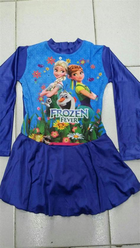 jual baju renang anak muslim frozen size sd gp fashion
