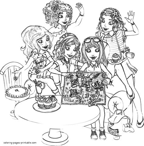 lego coloring book coloring pages of lego friends