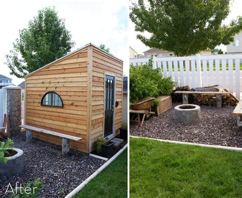 build backyard office before and after building a home office 187 curbly diy