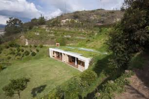 building a home house built into a hill