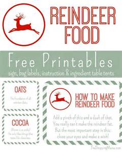 Reindeer food free printables the shopping mama