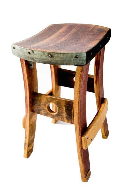 rustic outdoor swivel bar stools fallen oak wine barrel barstool no backrest reviews
