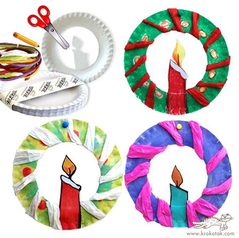 paper plate wreath make crafts with